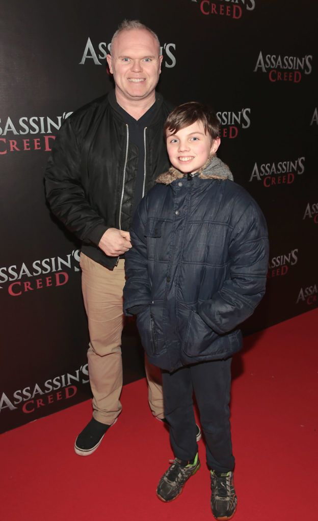 Jason O Callaghan and Ryan Sperrin pictured at the special preview screening of Assassin's Creed at the Savoy Cinema Dublin (Picture Brian McEvoy).