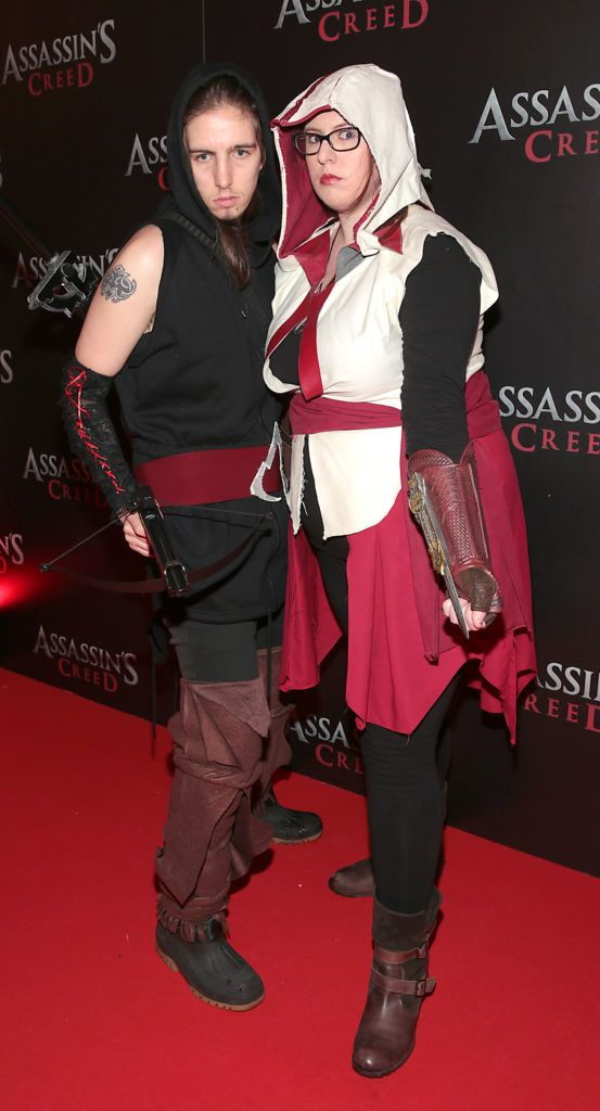 Kristina O Callaghan and James White pictured at the special preview screening of Assassin's Creed at the Savoy Cinema Dublin (Picture Brian McEvoy).