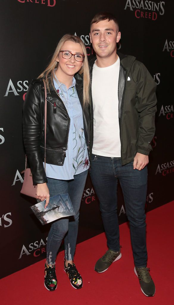 Nicola Connolly and David Callaghan pictured at the special preview screening of Assassin's Creed at the Savoy Cinema Dublin (Picture Brian McEvoy).