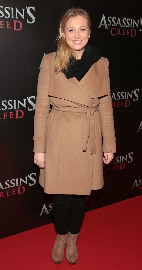 Andrea Kissane pictured at the special preview screening of Assassin's Creed at the Savoy Cinema Dublin (Picture Brian McEvoy).