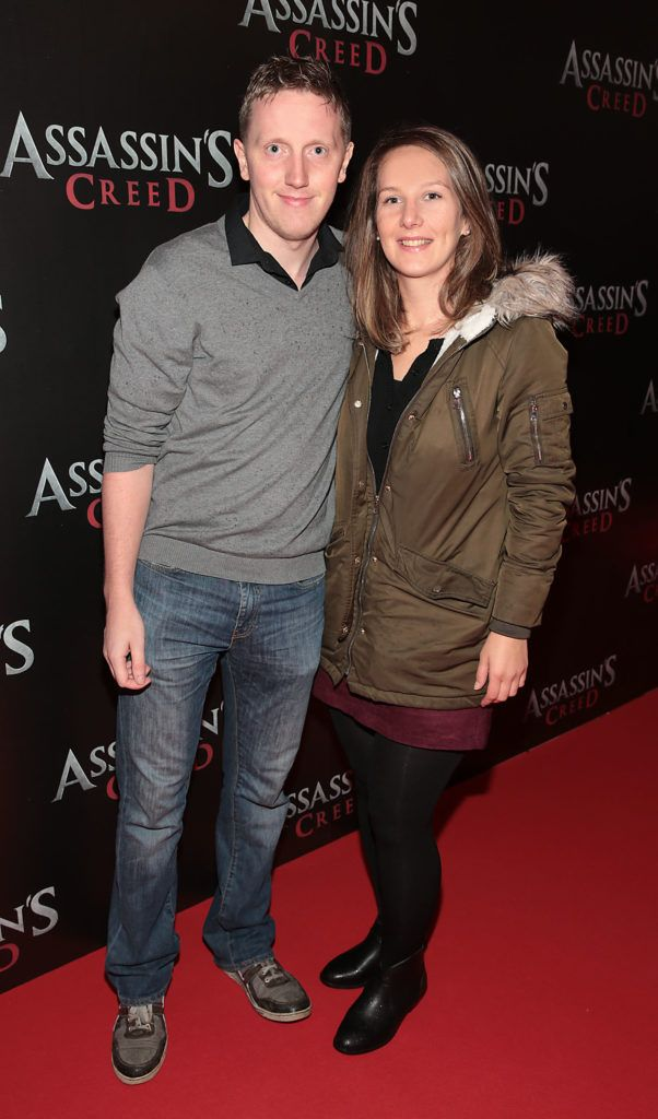 Paul Chambers and Elaine Filan pictured at the special preview screening of Assassin's Creed at the Savoy Cinema Dublin (Picture Brian McEvoy).