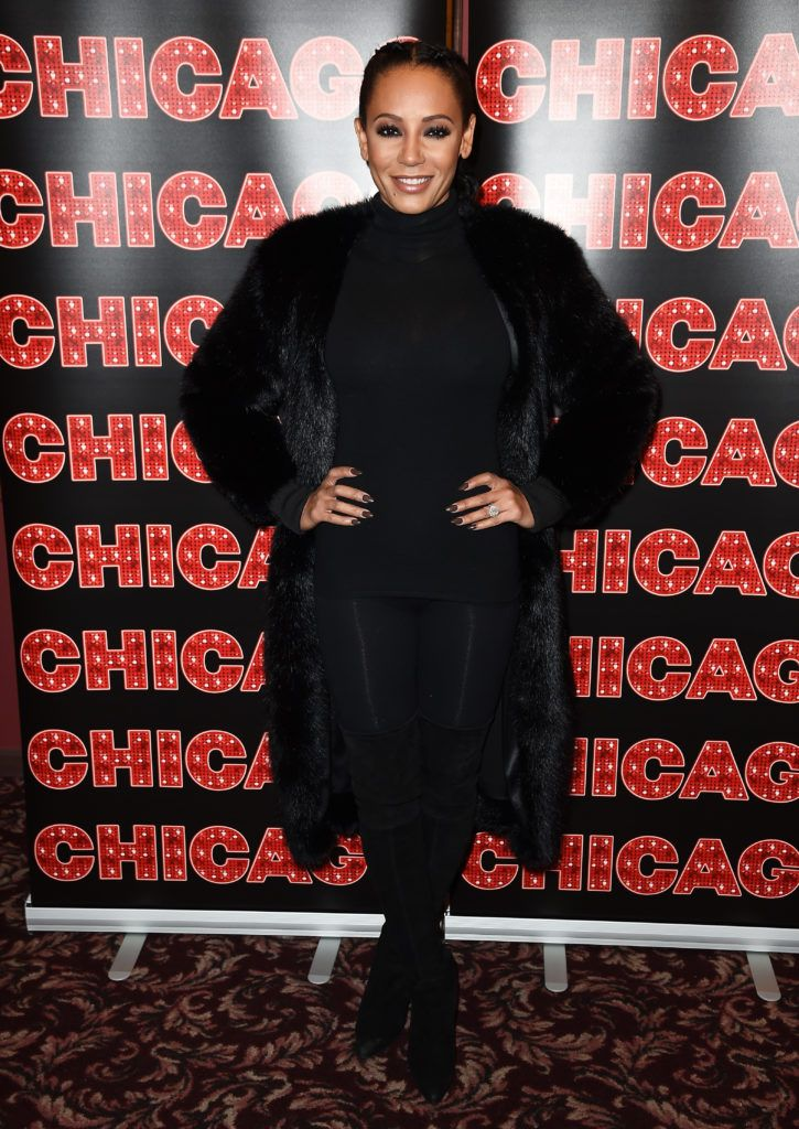 "Mel B returns to Broadway's ""Chicago"" at Sardi's on December 21, 2016 in New York City.  (Photo by Nicholas Hunt/Getty Images)"