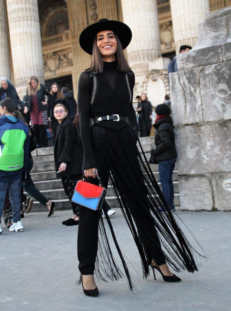 Paris Fashion Week Autumn/Winter 2018/2019 - Elie Saab - Departures  Featuring: Camila Coelho Where: Paris, France When: 03 Mar 2018 Credit: WENN.com