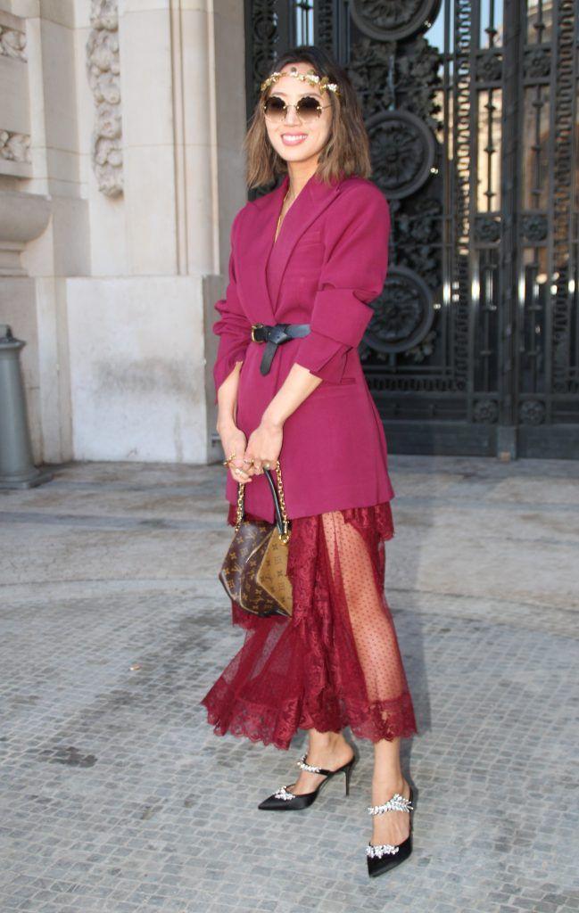 Paris Fashion Week Autumn/Winter 2018/2019 - Elie Saab - Departures  Featuring: Aimee Song Where: Paris, France When: 03 Mar 2018 Credit: WENN.com