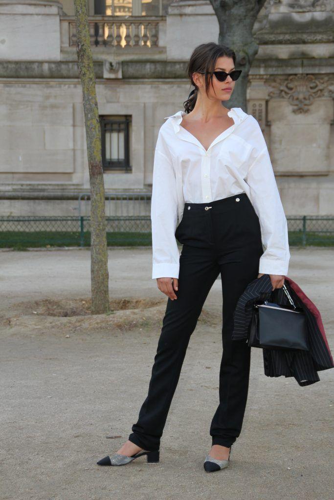 Paris Fashion Week Autumn/Winter 2018/2019 - Elie Saab - Departures  Featuring: Georgia Fowler Where: Paris, France When: 03 Mar 2018 Credit: WENN.com
