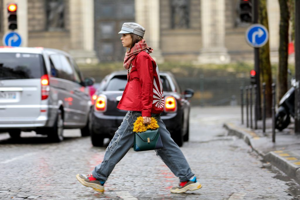 Paris Fashion Week Street style after the Sacai Fall/Winter 2018 Show.  Featuring: Carola Bernard Where: Paris, France When: 05 Mar 2018 Credit: Brian Dowling/WENN.com