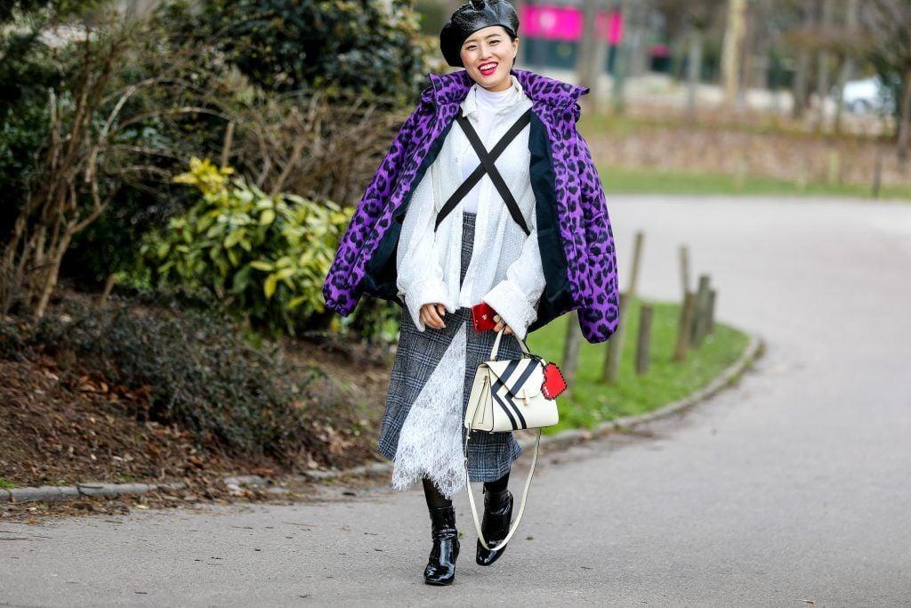 Paris Fashion Week Street style after the Sacai Fall/Winter 2018 Show.  Featuring: Heewon Kim Where: Paris, France When: 05 Mar 2018 Credit: Brian Dowling/WENN.com