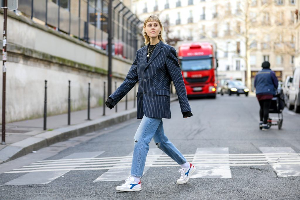 Paris Fashion Week Street style after the Sacai Fall/Winter 2018 Show.  Featuring: Linda tol Where: Paris, France When: 05 Mar 2018 Credit: Brian Dowling/WENN.com