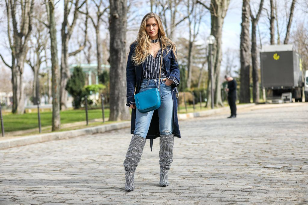 Paris Fashion Week Street style after the Sacai Fall/Winter 2018 Show.  Featuring: Maja Malnar Where: Paris, France When: 05 Mar 2018 Credit: Brian Dowling/WENN.com
