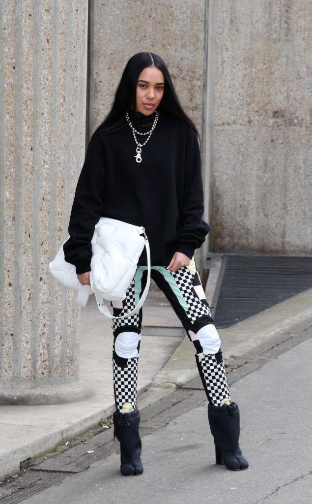 Celebrities attend the presentation of Miu Miu during Paris Fashion Week Autumn/Winter 2018/2019  Featuring: Aleali Where: Paris, France When: 06 Mar 2018 Credit: WENN.com