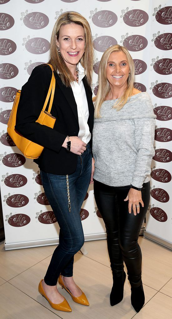 Niamh Mulleady and Karen McEvoy pictured celebrating 3 years of Elle No 5 Beauty in Celbridge, Co Kildare. Photo by Brian McEvoy