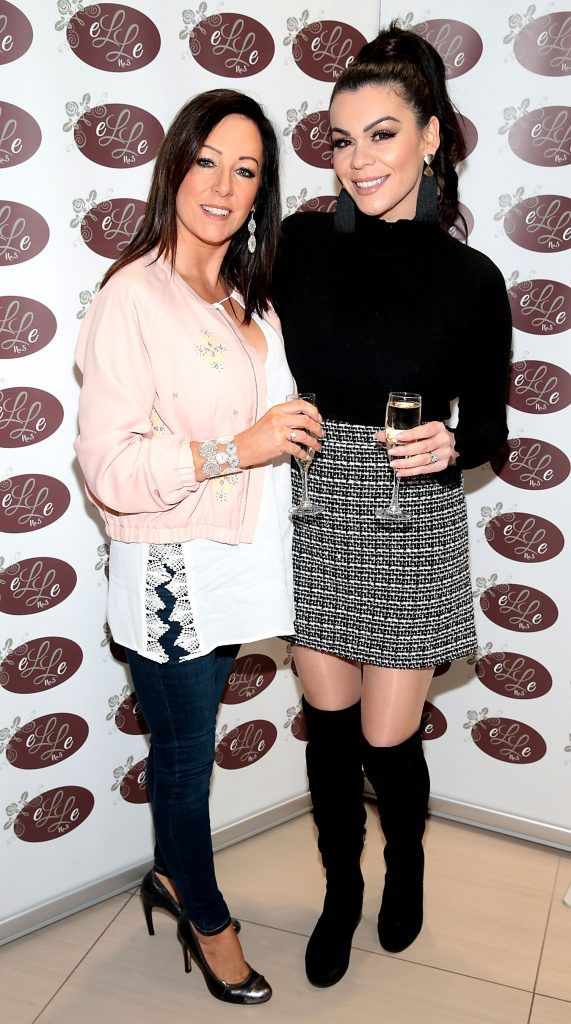 Sandy Maher and Nikki Kavanagh pictured celebrating 3 years of Elle No 5 Beauty in Celbridge, Co Kildare. Photo by Brian McEvoy