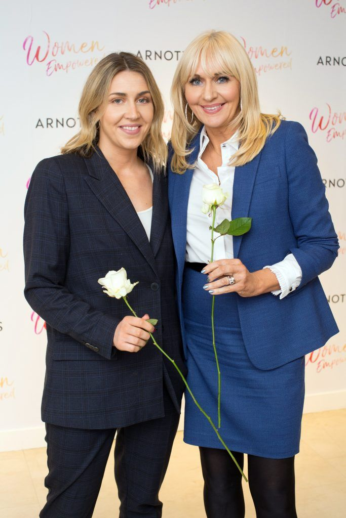 Georgia McGurk & Miriam O'Callaghan pictured attending the Arnotts Women Empowered Event. Photo: Anthony Woods