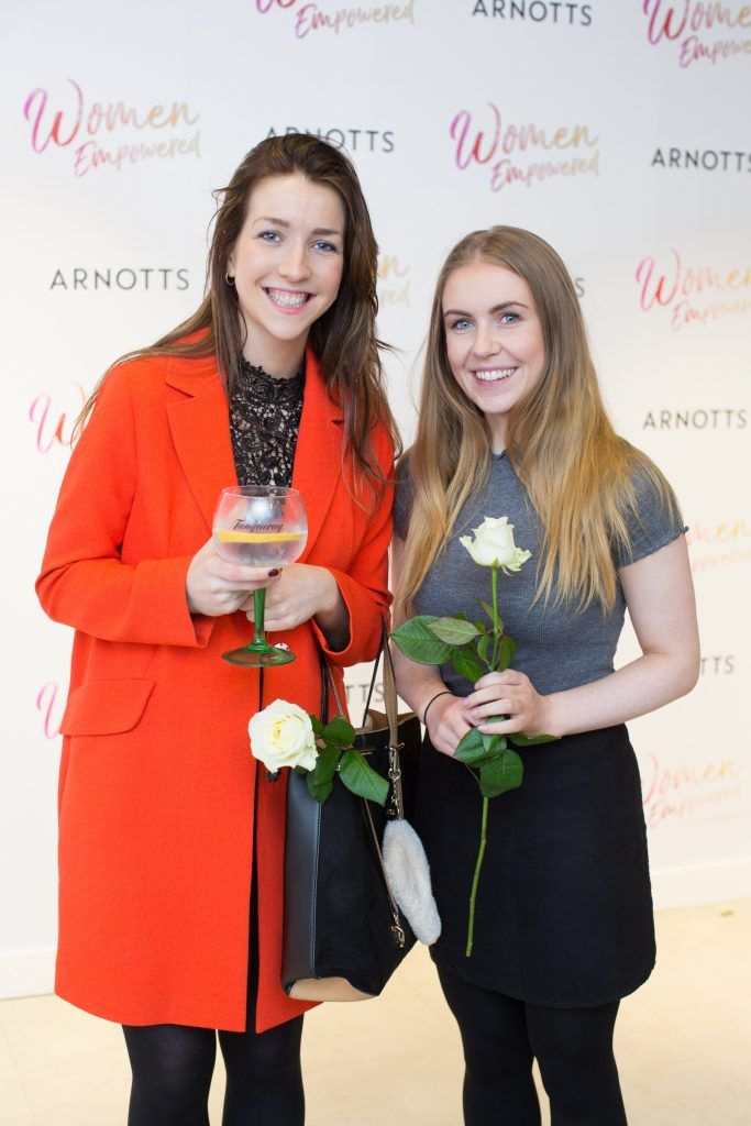 Cora Lanigan & Samantha Owens pictured attending the Arnotts Women Empowered Event. Photo: Anthony Woods