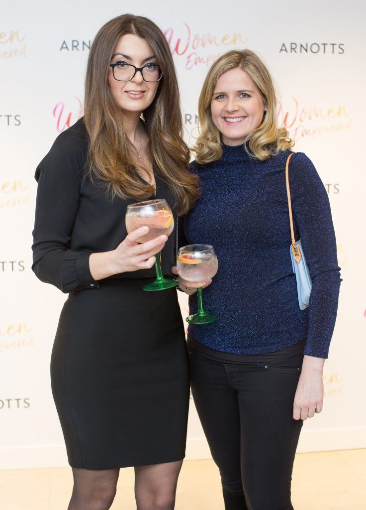 Daria Sochacka & Kathrin Coleman pictured attending the Arnotts Women Empowered Event. Photo: Anthony Woods