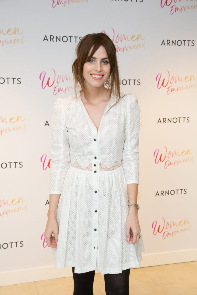 Holly White pictured attending the Arnotts Women Empowered Event. Photo: Anthony Woods