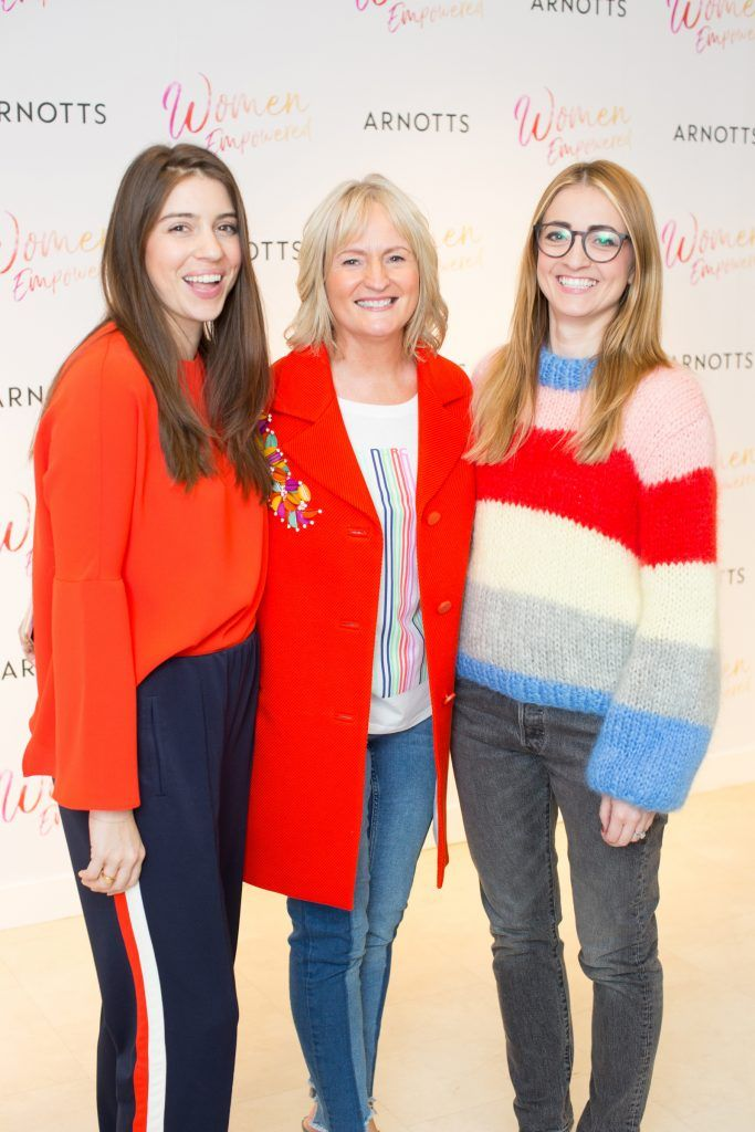Kelli Dryden Ryan. Mary Claffey & Alison Saly pictured attending the Arnotts Women Empowered Event. Photo: Anthony Woods