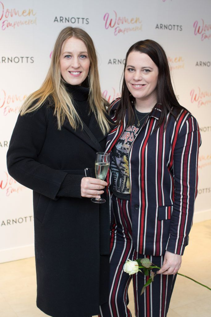 Naomi & Corina Gaffey pictured attending the Arnotts Women Empowered Event. Photo: Anthony Woods