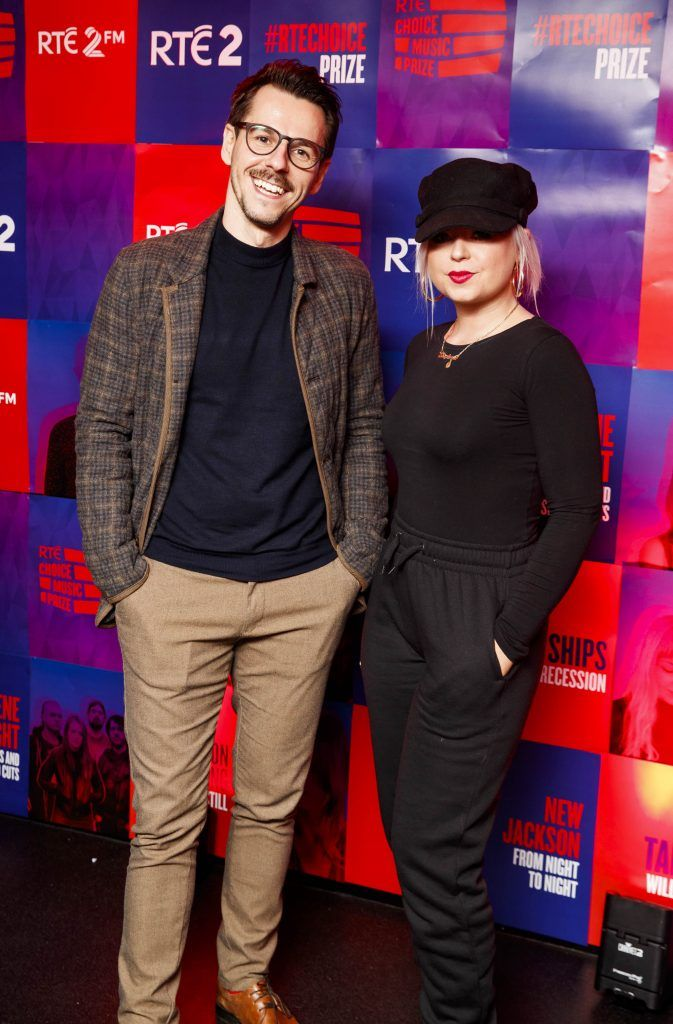 Ivan Klucka and Stephanie Naughter pictured at the RTE Choice Music Prize at Vicar Street, March 8th 2018. Picture by Andres Poveda