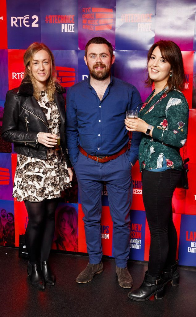 Gillian Neely, Alan Swan and Maureen Woods pictured at the RTE Choice Music Prize at Vicar Street, March 8th 2018. Picture by Andres Poveda