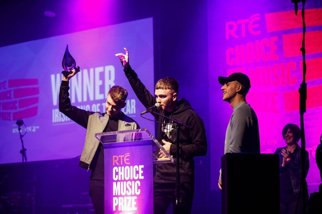 Chasing Abbey, Song of the Year winners pictured at the RTE Choice Music Prize at Vicar Street, March 8th 2018. Picture by Andres Poveda