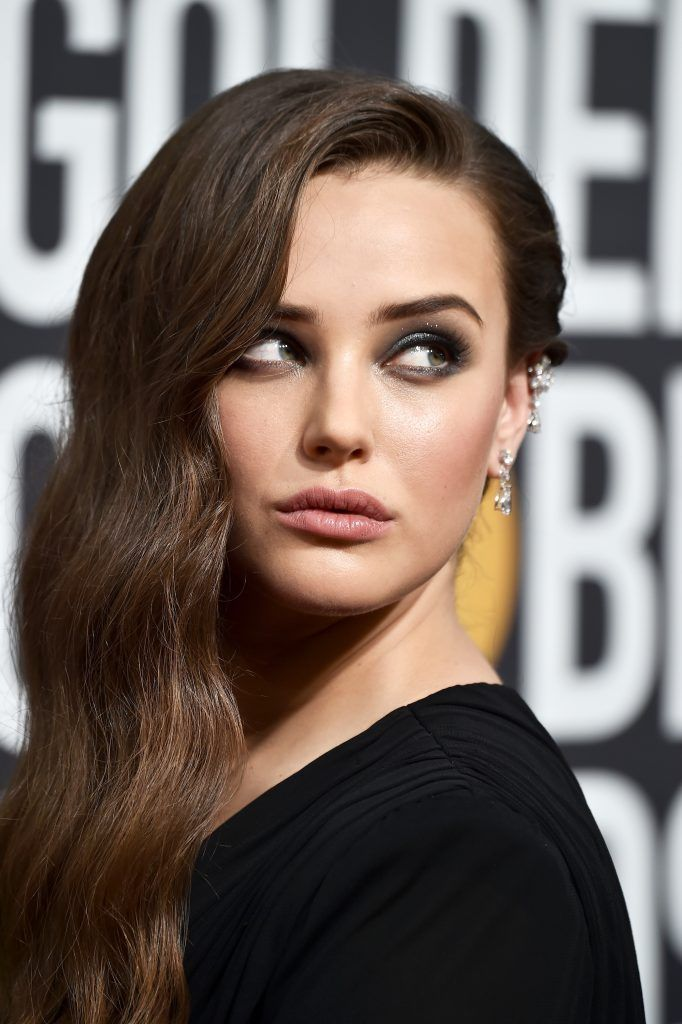 BEVERLY HILLS, CA - JANUARY 07:  Actor Katherine Langford attends The 75th Annual Golden Globe Awards at The Beverly Hilton Hotel on January 7, 2018 in Beverly Hills, California.  (Photo by Frazer Harrison/Getty Images)