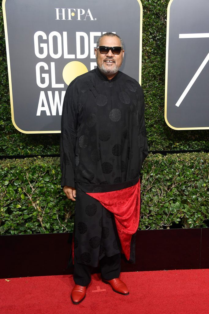BEVERLY HILLS, CA - JANUARY 07:  Actor Laurence Fishburne attends The 75th Annual Golden Globe Awards at The Beverly Hilton Hotel on January 7, 2018 in Beverly Hills, California.  (Photo by Frazer Harrison/Getty Images)