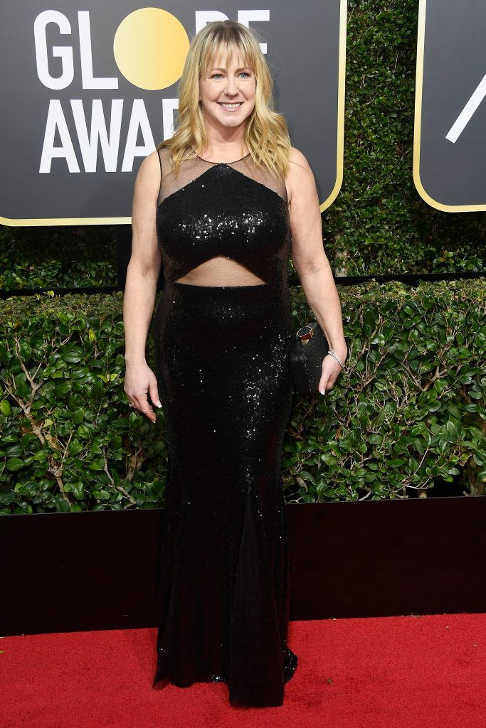 BEVERLY HILLS, CA - JANUARY 07:  Tonya Harding attends The 75th Annual Golden Globe Awards at The Beverly Hilton Hotel on January 7, 2018 in Beverly Hills, California.  (Photo by Frazer Harrison/Getty Images)