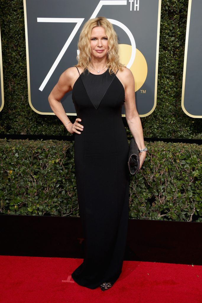 BEVERLY HILLS, CA - JANUARY 07:  Veronica Ferres attends The 75th Annual Golden Globe Awards at The Beverly Hilton Hotel on January 7, 2018 in Beverly Hills, California.  (Photo by Frederick M. Brown/Getty Images)