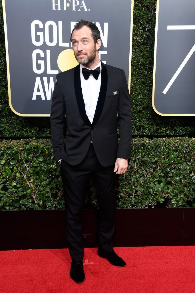 BEVERLY HILLS, CA - JANUARY 07:  Actor Jude Law attends The 75th Annual Golden Globe Awards at The Beverly Hilton Hotel on January 7, 2018 in Beverly Hills, California.  (Photo by Frazer Harrison/Getty Images)