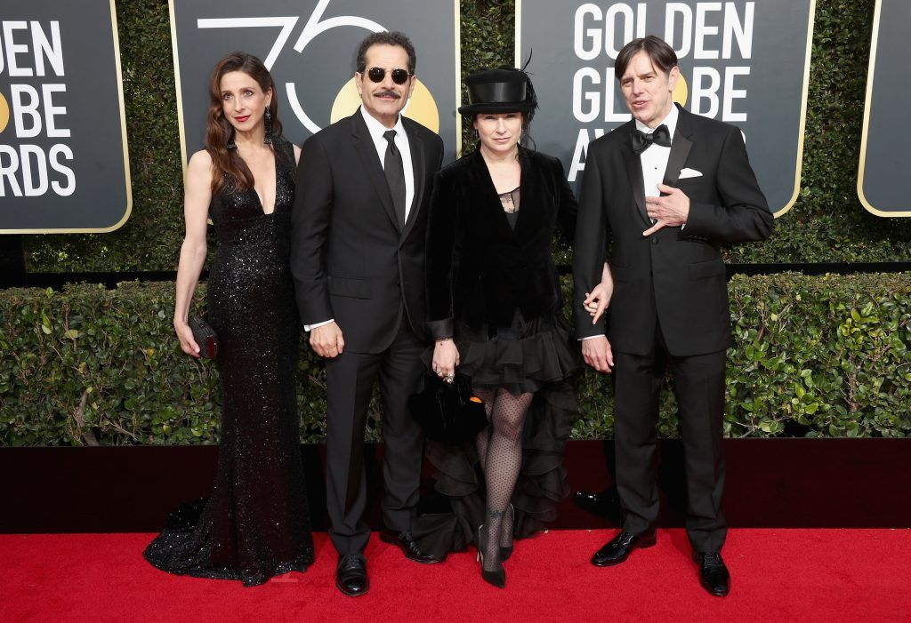 BEVERLY HILLS, CA - JANUARY 07:  Amy Sherman-Palladino (3rd from L) attends The 75th Annual Golden Globe Awards at The Beverly Hilton Hotel on January 7, 2018 in Beverly Hills, California.  (Photo by Frederick M. Brown/Getty Images)