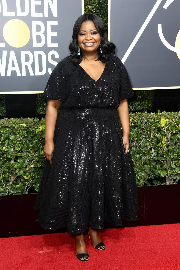 BEVERLY HILLS, CA - JANUARY 07:  Actor Octavia Spencer attends The 75th Annual Golden Globe Awards at The Beverly Hilton Hotel on January 7, 2018 in Beverly Hills, California.  (Photo by Frazer Harrison/Getty Images)