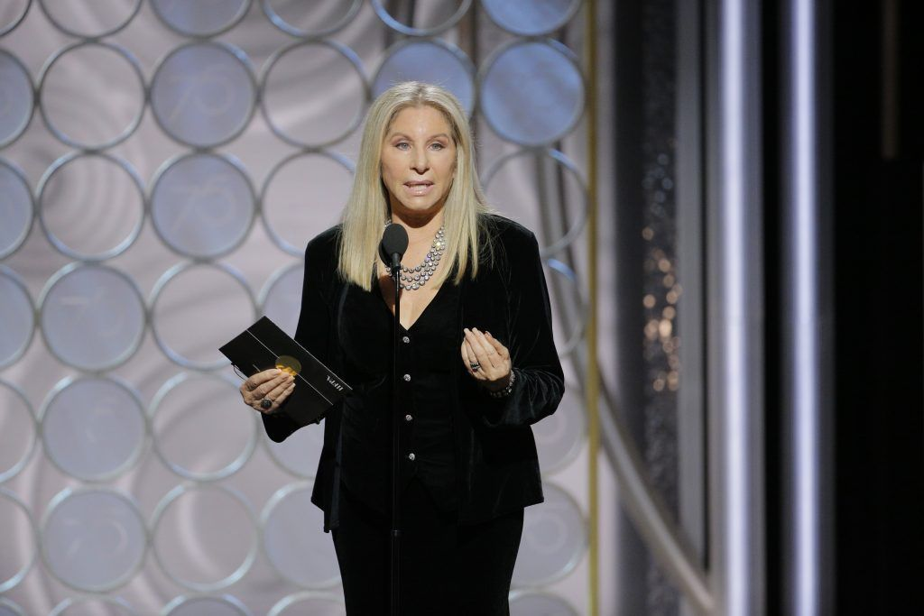 BEVERLY HILLS, CA - JANUARY 07:  In this handout photo provided by NBCUniversal,  speaks onstage during the 75th Annual Golden Globe Awards at The Beverly Hilton Hotel on January 7, 2018 in Beverly Hills, California.  (Photo by Paul Drinkwater/NBCUniversal via Getty Images)