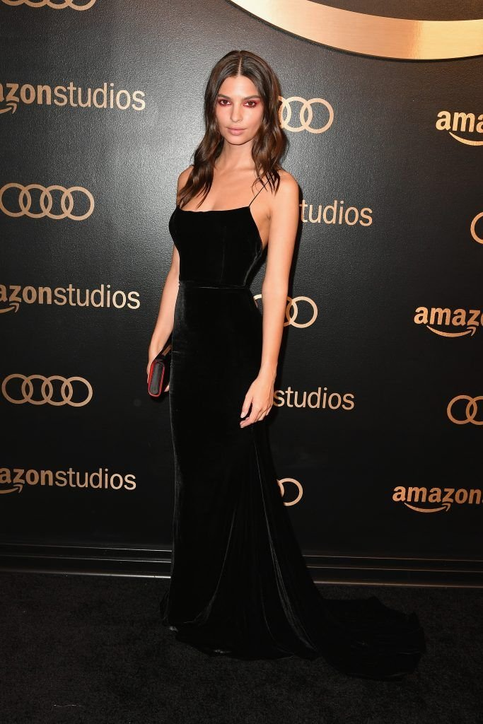 Model Emily Ratajkowski attends Amazon Studios' Golden Globes Celebration at The Beverly Hilton Hotel on January 7, 2018 in Beverly Hills, California.  (Photo by Earl Gibson III/Getty Images)
