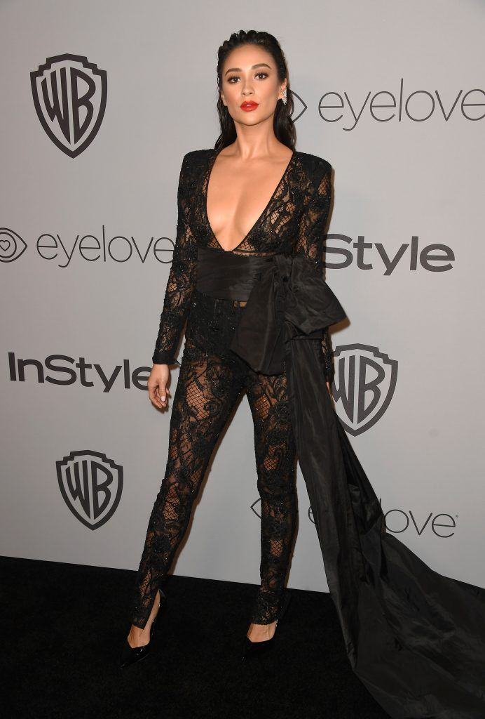 Actor Shay Mitchell attends the 19th Annual Post-Golden Globes Party hosted by Warner Bros. Pictures and InStyle at The Beverly Hilton Hotel on January 7, 2018 in Beverly Hills, California.  (Photo by Frazer Harrison/Getty Images)