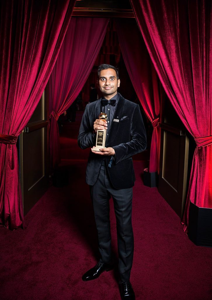 Aziz Ansari attends the Netflix Golden Globes after party at Waldorf Astoria Beverly Hills on January 7, 2018 in Beverly Hills, California.  (Photo by Netflix via Getty Images)