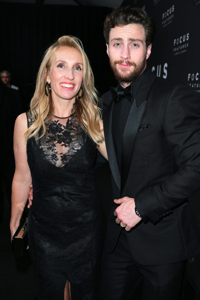 Sam Taylor-Johnson and Aaron Taylor-Johnson attend Focus Features Golden Globe Awards After Party on January 7, 2018 in Beverly Hills, California.  (Photo by Rich Fury/Getty Images)