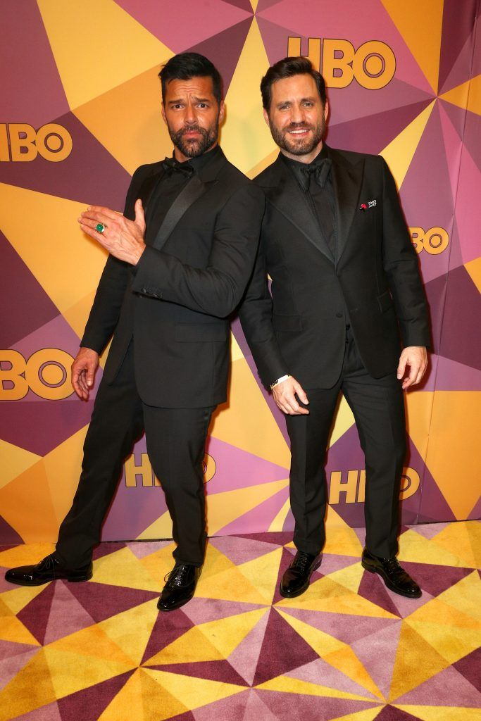 Ricky Martin and Jwan Yosef  attend HBO's Official Golden Globe Awards After Party at Circa 55 Restaurant on January 7, 2018 in Los Angeles, California.  (Photo by Frederick M. Brown/Getty Images)