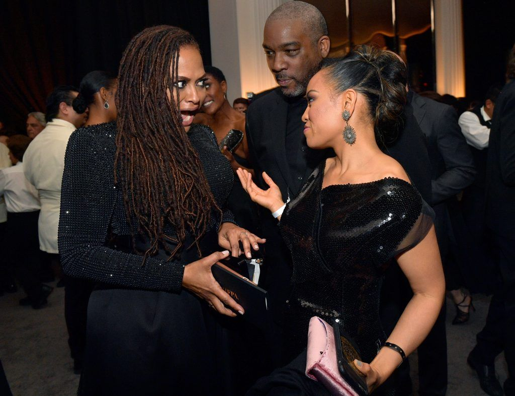 Director Ava DuVernay (L) attends the 2018 InStyle and Warner Bros. 75th Annual Golden Globe Awards Post-Party at The Beverly Hilton Hotel on January 7, 2018 in Beverly Hills, California.  (Photo by Matt Winkelmeyer/Getty Images for InStyle)