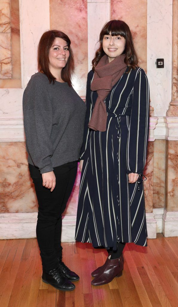 Vasiliki Ioannidi and Justine Zwiazek pictured at the launch of TradFest 2018 at the Department of Foreign Affairs, Dublin. Photo: Brian McEvoy Photography