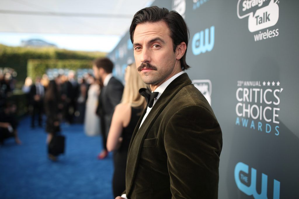 SANTA MONICA, CA - JANUARY 11:  Actor Milo Ventimiglia attends The 23rd Annual Critics' Choice Awards at Barker Hangar on January 11, 2018 in Santa Monica, California.  (Photo by Christopher Polk/Getty Images for The Critics' Choice Awards  )