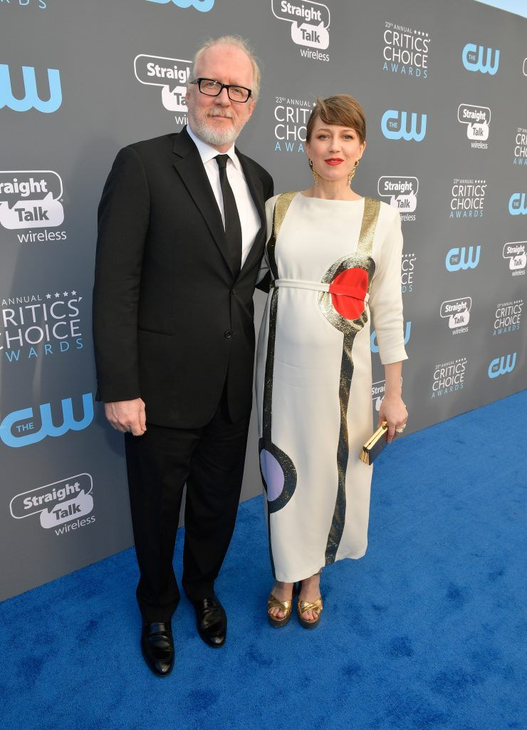 SANTA MONICA, CA - JANUARY 11:  Actors Tracy Letts (L) and Carrie Coon attend The 23rd Annual Critics' Choice Awards at Barker Hangar on January 11, 2018 in Santa Monica, California.  (Photo by Matt Winkelmeyer/Getty Images for The Critics' Choice Awards  )