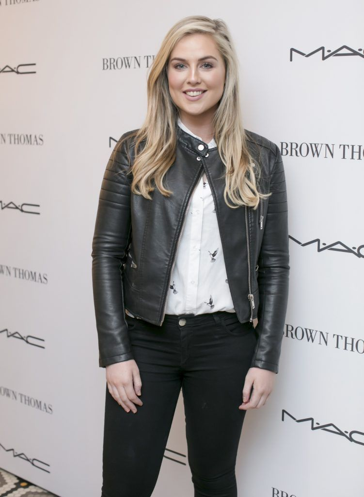 Amy Connolly pictured at The Restaurant at Brown Thomas where M.A.C Cosmetics celebrated 20 years of colour, creativity and culture at Brown Thomas Dublin. Photo: Anthony Woods.