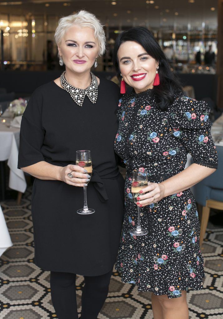 Elaine Behan & Terri McCreanor pictured at The Restaurant at Brown Thomas where M.A.C Cosmetics celebrated 20 years of colour, creativity and culture at Brown Thomas Dublin. Photo: Anthony Woods.