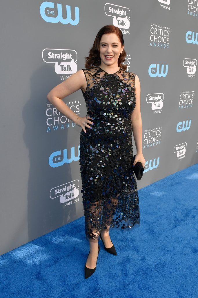 SANTA MONICA, CA - JANUARY 11:  Actor Rachel Bloom attends The 23rd Annual Critics' Choice Awards at Barker Hangar on January 11, 2018 in Santa Monica, California.  (Photo by Matt Winkelmeyer/Getty Images for The Critics' Choice Awards  )