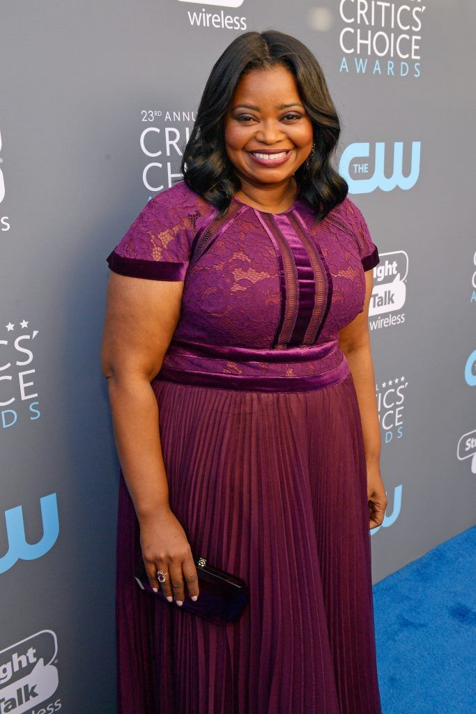 SANTA MONICA, CA - JANUARY 11:  Actor Octavia Spencer attends The 23rd Annual Critics' Choice Awards at Barker Hangar on January 11, 2018 in Santa Monica, California.  (Photo by Matt Winkelmeyer/Getty Images for The Critics' Choice Awards  )