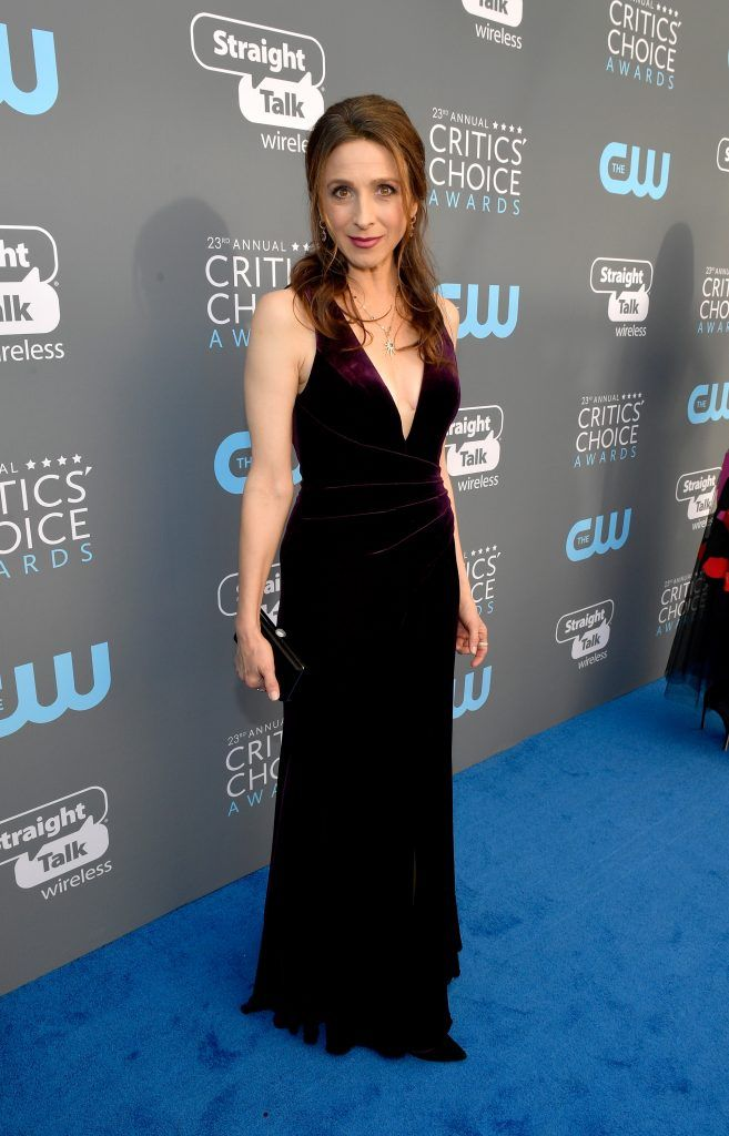 SANTA MONICA, CA - JANUARY 11:  Actor Marin Hinkle attends The 23rd Annual Critics' Choice Awards at Barker Hangar on January 11, 2018 in Santa Monica, California.  (Photo by Matt Winkelmeyer/Getty Images for The Critics' Choice Awards  )