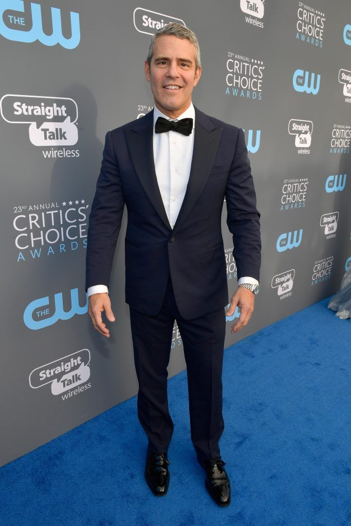 SANTA MONICA, CA - JANUARY 11:  TV personality Andy Cohen attends The 23rd Annual Critics' Choice Awards at Barker Hangar on January 11, 2018 in Santa Monica, California.  (Photo by Matt Winkelmeyer/Getty Images for The Critics' Choice Awards  )
