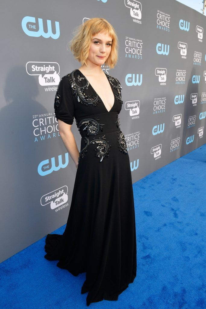 SANTA MONICA, CA - JANUARY 11:  Actor Alison Sudol attends The 23rd Annual Critics' Choice Awards at Barker Hangar on January 11, 2018 in Santa Monica, California.  (Photo by Matt Winkelmeyer/Getty Images for The Critics' Choice Awards  )
