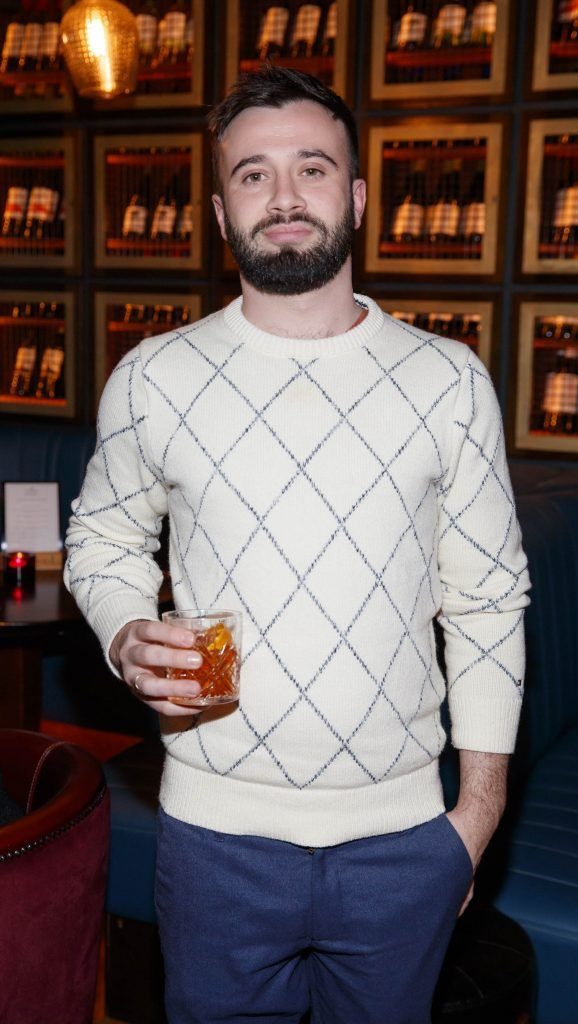 Jacob Long at the relaunch of the lounge bar and Boss Crokers snug bar at Sandyford House in Sandyford Village, Dublin 18 (1st February 2018). Picture by Andres Poveda